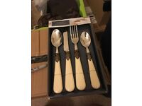 12x 16 piece cutlery set wedding