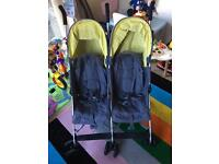 Mothercare double pram buggy
