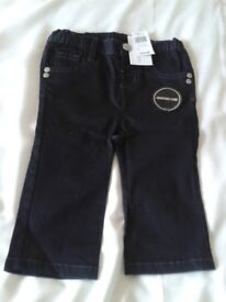 BABY BOYS BLACK JEANS BY 'TEENY WEENY' AGE 6-9 MONTHS, BNWT