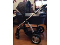 Mamas & Papas Solo MTX Pushchair System with Carrycot In Denim