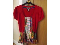 Fashion Union Red Top Size 12