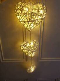 Brand New Set of 3 Hanging LED Hearts RRP £25