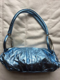 BNWT Small Metallic/Foil Turquoise Blue Handbag - Carpisa