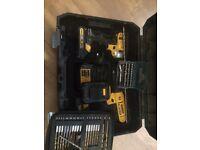 DeWalt 18v impact driver and combi drill set
