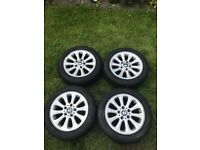 BMW 1 series e87 alloy wheels and tyres x4