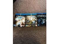 Fringe blu Ray dvd season 1 2 And 3