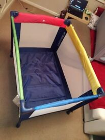 New Mothercare colour block travel cot