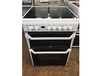 Indesit ID60C2 60cm Double Electric Cooker in White #3806