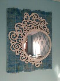 Decorative Mirror (Blue & White)