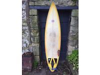 Semi gun surfboard