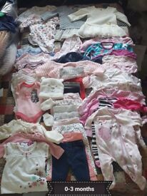 0-3months girls clothes 5 groups