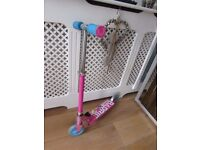 Barbie girls scooter foldable 3 heights for handle bars