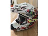 THH motor cross helmet bag and goggles