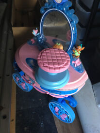 Childs Dressing Table With Mirror And Chair been gathering dust in the garage.