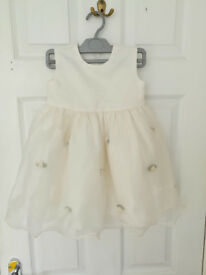 12-18 months cream party dress with flowers