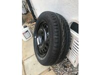 185 60 15 continental car tyre and new Vauxhall's wheel