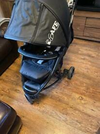 3 wheeler i safe travel pushchair