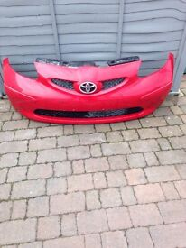 GENUINE TOYOTA AYGO 2005 2008 FRONT BUMPER red 3P0