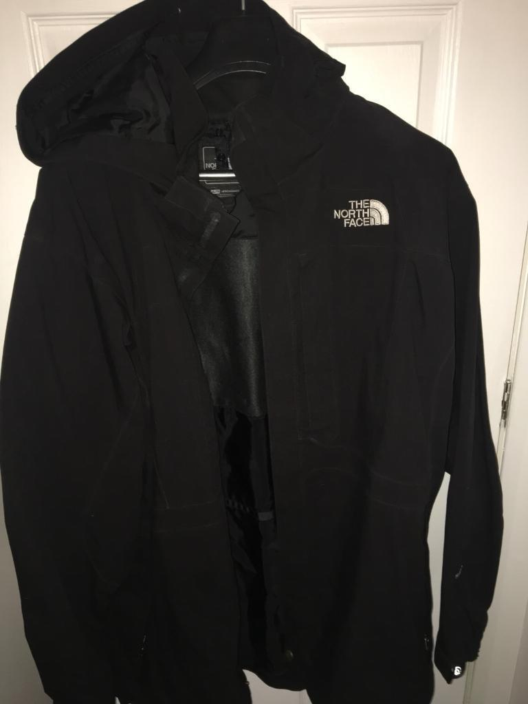 North Face Black Full Length Hyvent Coat - Size XXL