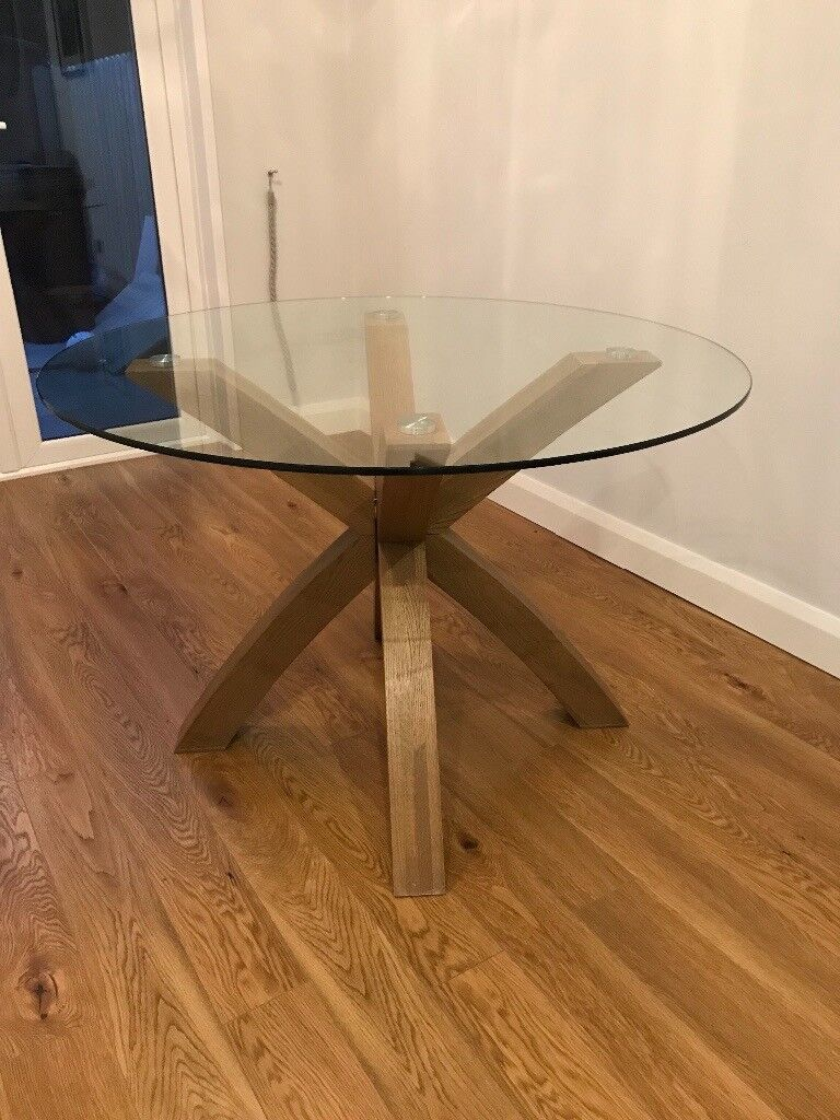 Next Oak And Glass Round Dining Table In Carrickfergus County