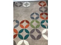 Next rug. Brand new paid £180. Geo circles