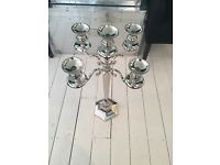 Small Candelabra with hexagon shaped base