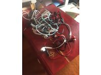 8 pairs of broken earphones for crafting/jewelry making/purpose of your choice