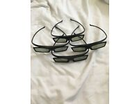 4x Samsung 3d glasses