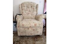 Recliner Armchair. REDUCED to £50 from £60. Remote control. Must be seen. Lovely condition.