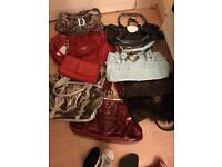 8 bags and six pair of shoes size 4