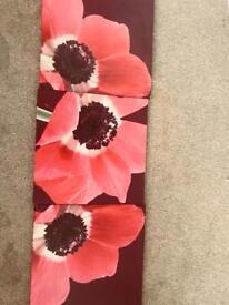 3x floral canvas