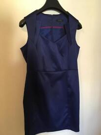Royal Blue sateen dress