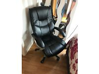 Luxury leather office chair computer study desk