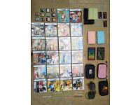 4 DS consoles, loads of games and accessories