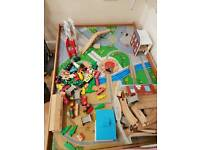 ELC Wooden Train Table and track