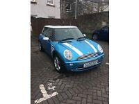 Electric blue Mini Cooper - john Cooper edition