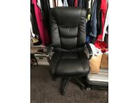Office chair new black leather extra back support cost £219 take £65