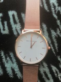 Genuine Paul valentine marina rose gold mesh watch