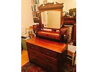 Antique Dressing Table Chest of Drawers