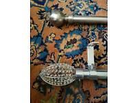 Designer steel curtain rails 6ft