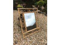 Retro bamboo mirror