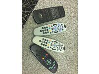 Sky tv remote joblot All 4 in one price