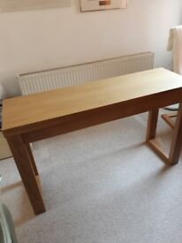 Dining table and four folding chairs