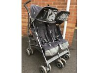 McLaren Double buggy stroller pushchair
