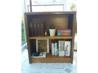 Solid wood small and slim bookshelf