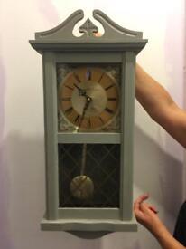 Grey Painted pendulum clock