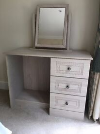 NEAR NEW Dressing Table/Mirror and 2 x 3-draw Chest