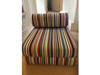 Child's comfy chair-bed