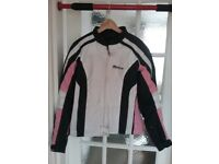 Ladies motorcycle jacket, Weise, size large will fit size 12/14