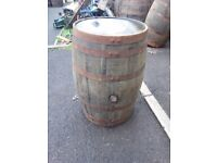 Oak whiskey barrels for garden patio bar pub wedding